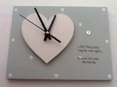 Shabby personalised Gift Chic Clock.. Special Wedding Gift Bride Groom Present
